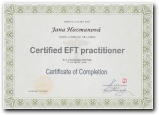 Certifikát EFT